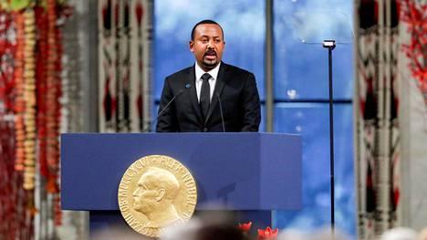 Nobelin rauhanpalkinnon saanut Etiopian pääministeri Abiy Ahmed.
