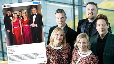 Club for Five sai kunnian esiintyä presidenttiparille ja muille juhlavieraille Linnan juhlissa.