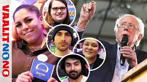 Demokraattipuolueen vasenta laitaa edustava Bernie Sanders (kuva oik.) on suosittu etenkin nuorten keskuudessa.