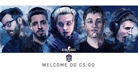 """Aleksi """"Aleksib"""" Virolaisen (keskellä) luotsaama OG debytoi 12. joulukuuta Yhdysvalloissa."""