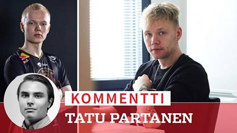 """Jere """"sergej"""" Salon (vasemmalla) ja Miikka """"suNny"""" Kempin uusi joukkue ei , kirjoittaa Tatu Partanen."""
