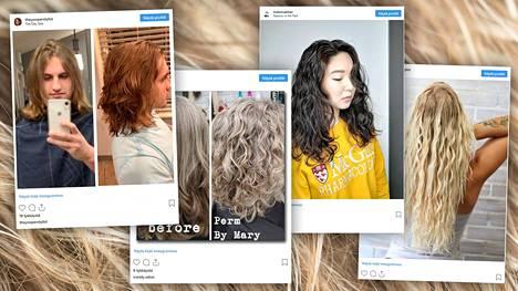 Permanentilla saa aikaan sekä kiharaa että lainetta. Hiuksiaan käsittelevät nyt niin naiset kuin miehetkin.