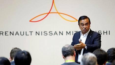Renault–Nissan–Mitsubishi-leirin ykkösnyrkki on Carlos Ghosn.