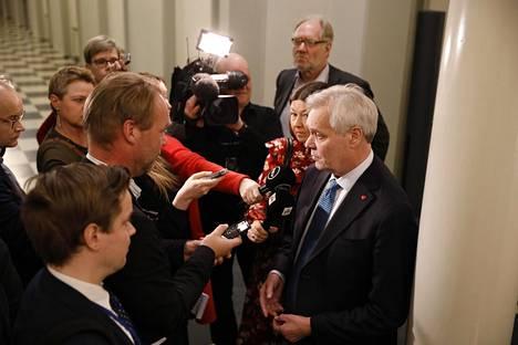 Antti Rinne eduskunnassa keskiviikkona.