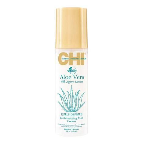 CHI Aloe Vera Curls Defined Moisturizing Curl Cream -voide kosteuttaa ilmiömäisesti kiharaa tukkaa, 25,80 €.