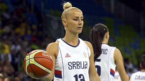 Milica Dabovic edusti Serbiaa Rion olympialaisissa 2016.