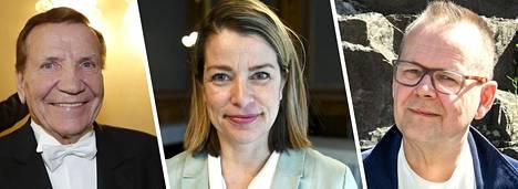 Eino Grön, Marianne Heikkilä ja Kari Hotakainen.