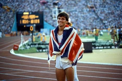Coe voitti 1500 metrin olympiakultaa Moskovassa 1980 ja Los Angelesissa 1984. Kuva Los Angelesin Memorial Coliseumilta.