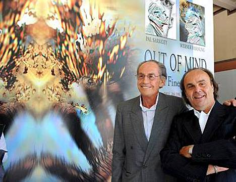 Ranskan presidentin isä Pal Sarkozy ja hänen saksalainen ystävänsä Werner Hornung pitävät yhteisen taidenäyttelyn.