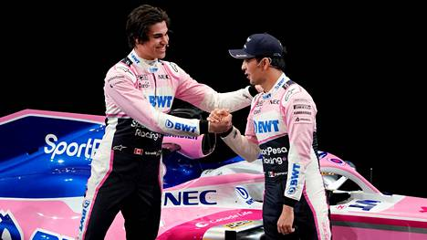Lance Stroll (vas.) ja Sergio Perez ovat Racing Point -tallin kisakuskit.