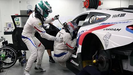 Jesse Krohn ja Alessandro Zanardi Miramasissa 5. marraskuuta.