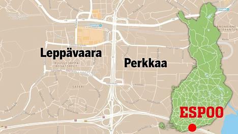 Nuori 19-vuotias nainen raiskattiin metsässä Leppävaaran aseman lähellä Perkkaan puolella.
