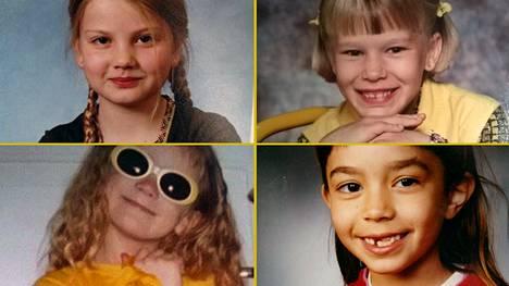 Voihan kultainen 1990-luku! Neljä julkkisnaista, neljä koulukuvaa 1. luokalta.