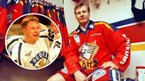 Marko Palo on yksi vuoden 1995 legendaarisista kultaleijonista. Isompi kuva on arkistokuva Marko Palosta Malmö-paidassa. Hän pelasi Malmö IF:ssä kauden 1995–1996.