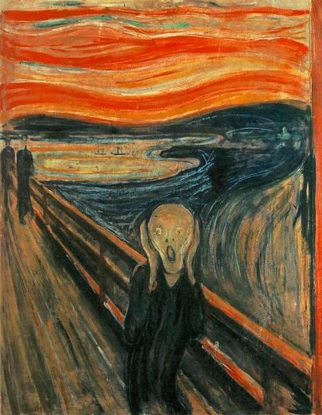 Huuto on yksi maalaustaiteen historian tunnetuimmista ahdistusta symboloivista teoksista.