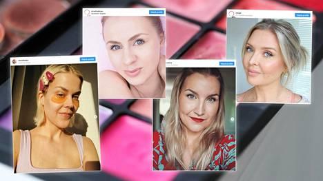 Eevaleena Liedes, Virve Fredman, Erika Naakka ja Miia Johansson jakavat luotetuimmat kauneuskikkansa.
