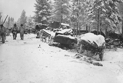 Raatteentielle jäi tammikuun alussa 1940 kokonaisen divisioonan kalusto.