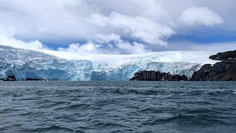 Collinsin jäätikkö Kuningas Yrjön saarella helmikuussa 2019.