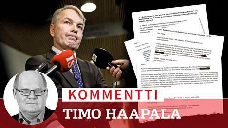 Ulkoministeri Pekka Haavisto oli tiistaina ulkoasiainvaliokunnan kuultavana eduskunnassa.