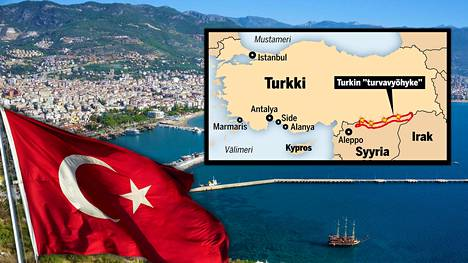 Muun muassa Alanya on matkailijoiden suosima kohde Turkissa.