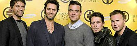 Robbie Williams palaa yhteen vanhojen bändikaveriensa kanssa.
