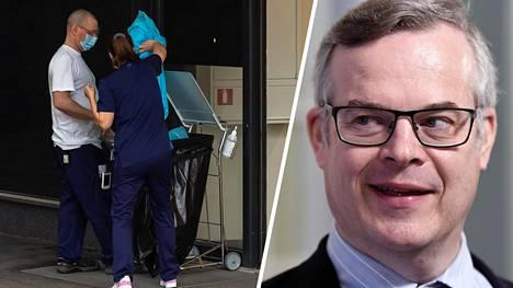 – Suojavarusteiden puute muodostui jo kahden pandemiaviikon jälkeen niin suureksi ongelmaksi, että valtion varmuusvarastojen ovet jouduttiin avaamaan, sanoo HUS:in diagnostiikkajohtaja Lasse Lehtonen.