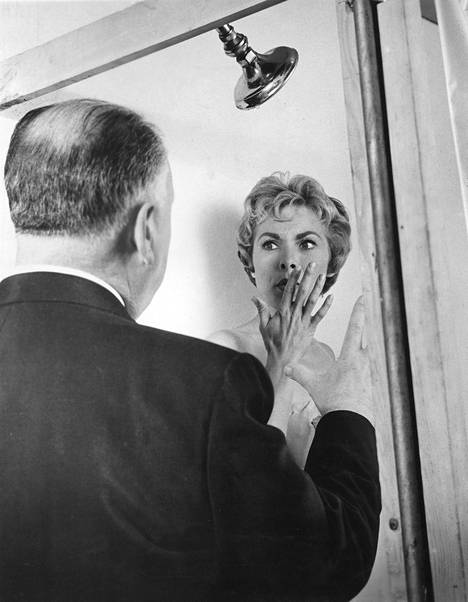 Alfred Hitchcock ja Janet Leigh 1960.