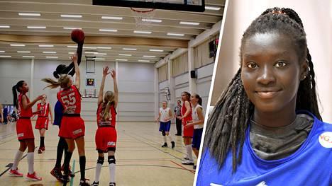 Awak Kuier on Suomen maajoukkueen tähti. Hänen koripallojuurensa ovat Kotkassa.