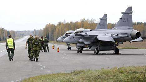 Ruotsin ilmavoimat lentotoimintaharjoituksessa syyskuussa 2016.