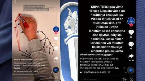 Krp:n julkaisema TikTok-video on saanut kritiikkiä osakseen.
