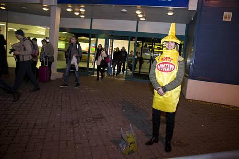 Kuninkaantien lukiosta matkaan lähtenyt sinappipurkki Lauri Kontio piti matkan tunnelmaa tulisena.