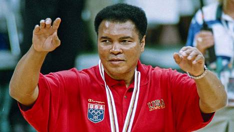Muhammad Ali vuonna 1996 Atlantan olympialaisissa.