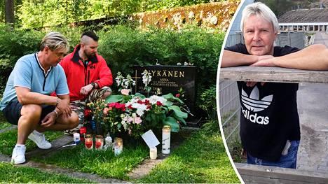 Mäkihyppylegenda Matti Nykänen olisi täyttänyt perjantaina 17. heinäkuuta 57 vuotta. Ari Saarinen (vas.) ja Aleksi Hirvonen kävivät muistamassa puolitoista vuotta sitten menehtynyttä ystäväänsä tämän syntymäpäivänä.
