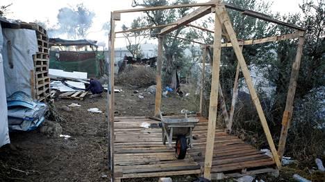 Pakolaisleiri Lesboksen saarella 15. marraskuuta 2019.