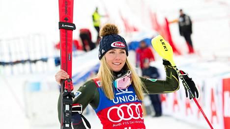 Mikaela Shiffrin oli jälleen ykkönen.