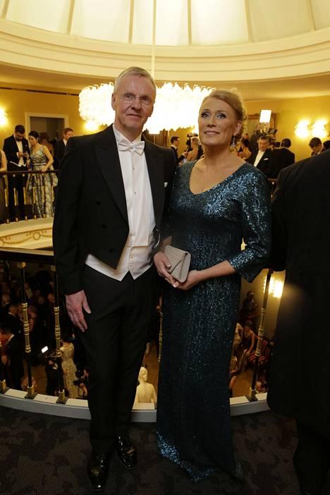 Kari Jalonen ja puoliso Johanna.