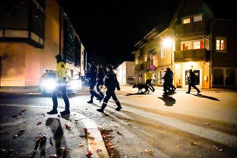 Poliisi on eristänyt laajan alueen Kongsbergissä.