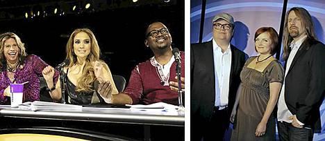 American Idolin tuomaristossa istuvat Steven Tyler, Jennifer Lopez ja Randy Jackson. Suomalaisversiossa tuomaroivat Sami Pitkämö, Nina Tapio ja Jone Nikula.