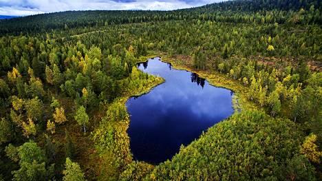 Neitokainen-järvi sijaitsee Kittilän Lainiossa.
