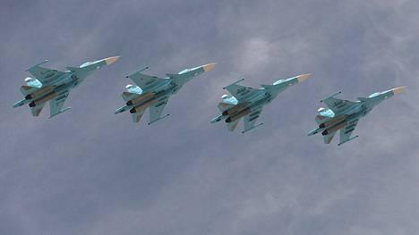 Suhoi Su-34 -rynnäkkökoneet edustavat Venäjän ilmavoimien uusinta aseteknologiaa.