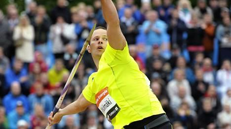 Tero Pitkämäki on keihäänheiton maailmantilaston kolmosena.