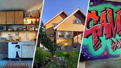Leena Vuorisen ja hänen perheensä koti Valkeakoskella huokuu historiaa. Sisustuksessa on käytetty myös mielikuvitusta. Kellarista löytyy jopa graffiti.