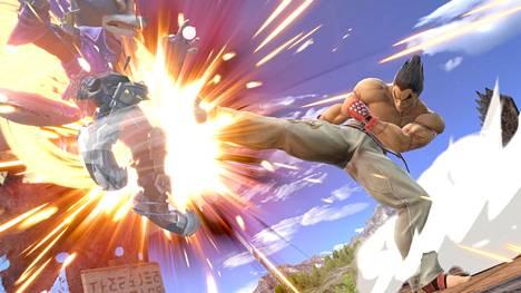 Smash Ultimate -tappelupelin uusin hahmo Kazuya Mishima (oikealla) on osoittautunut kovaksi vastustajaksi ammattipelaajille.