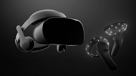 Microsoft uskoo MR (mixed reality) -tekniikkaan. Kuvassa Samsungin eilen julkistama silmikko ja ohjauslaitteet.