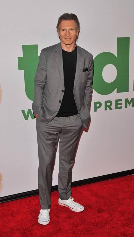 Tältä Neeson näytti Ted 2 -elokuvan ensi-illassa 24. kesäkuuta.