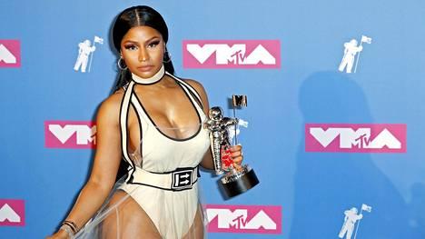 Rap-artisti Nicki Minaj palkittiin MTV Video Music Awards -gaalassa 20. elokuuta 2018.