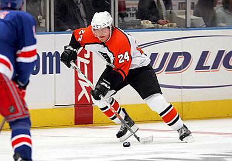 Sami Kapanen on pelannut kuusi viime kautta Philadelphia Flyersin joukkueessa NHL:ssä.