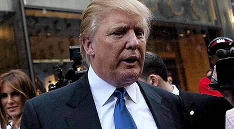 Amerikassa on eniten miljonäärejä. Kuvassa Donald Trump.