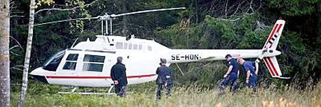 Ruotsin helikopteriryöstön tutkinnassa vangittiin torstaina jo kolmas mies.