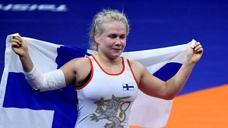 Petra Olli valittiin Suomen parhaaksi painijaksi 2018.